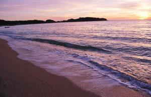 恩納村の海 夕日も綺麗です